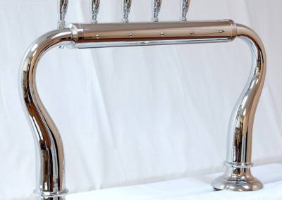 5tap chrome with large base - customer side