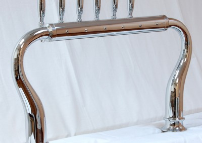 6tap chrome with large base - customer side